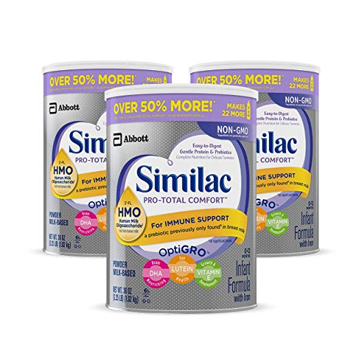Similac Pro Total Comfort Non-GMO Infant Formula Review