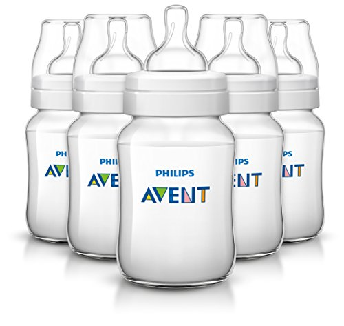 Image of the Philips Avent Anti-colic Baby Bottles Clear, 9oz 5 Piece