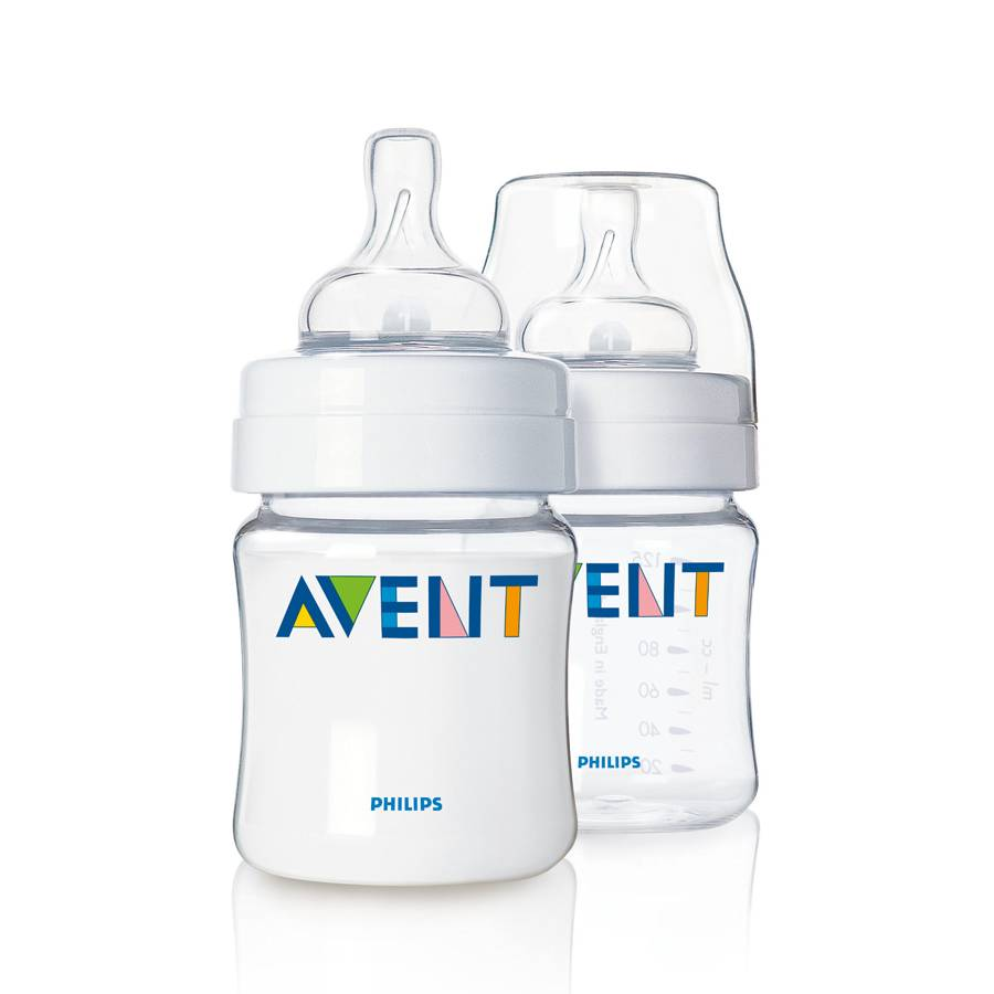 image of avent bottles, one with a lid and one without