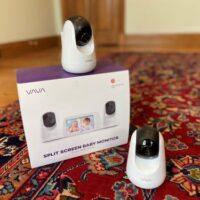 vava 2-camera spit screen video baby monitor