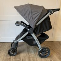 The Chicco Bravo Stroller has a deep recline to keep toddlers comfortable when napping on the go.