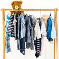 children clothes hanging