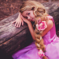 girl dressed up in princess clothes